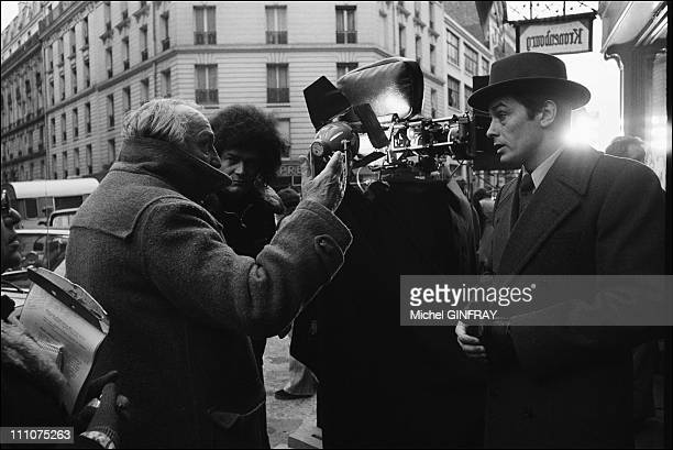 Alain Delon Joseph Losey in the shooting of 'Mr Klein' at the castle Escrinot in France on September 02nd 1976