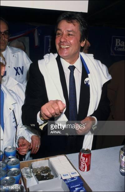 Alain Delon Meeting Raymond Barre 1988