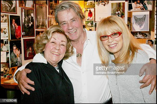 Alain Delon Mireille Darc and Suzy Delair who performed in the play Rocco and his brothers in 1961 Alain Delon in the play Sur La Route De Madison at...