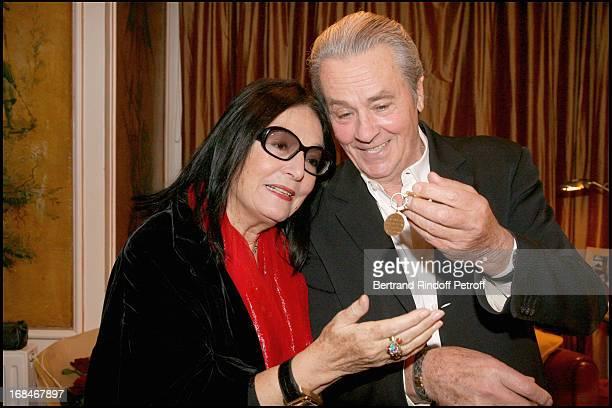 Alain Delon Nana Mouskouri and the jewel Nana Mouskouri offered to Alain delon 30 years ago at Alain Delon In AR Gurney's Play Love Letters At...