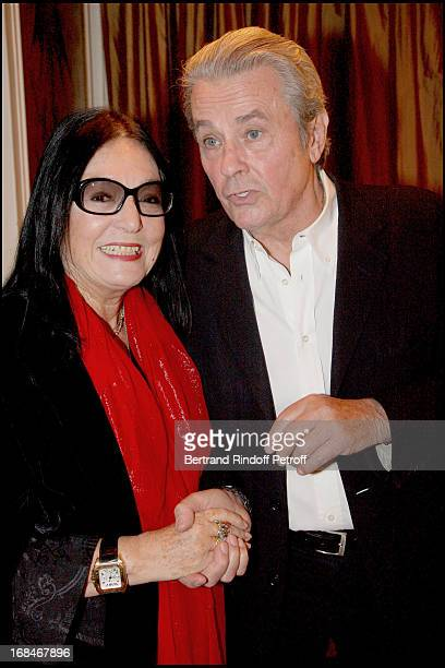 Alain Delon Nana Mouskouri at Alain Delon In AR Gurney's Play Love Letters At Theatre De La Madeleine In Paris