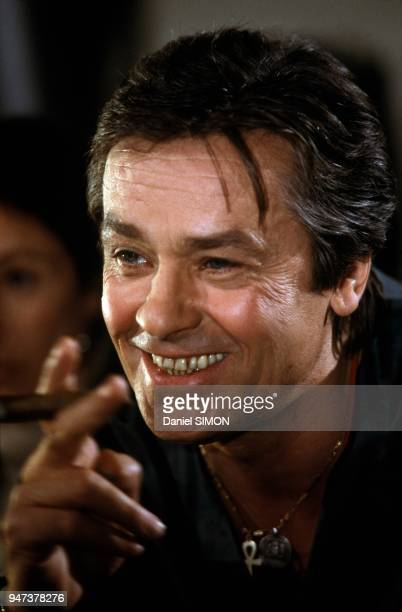 Alain Delon On Set Of TV Movie Cinema February 1988