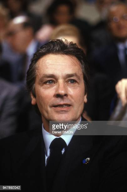 Alain Delon On TV Set Paris November 7 1988
