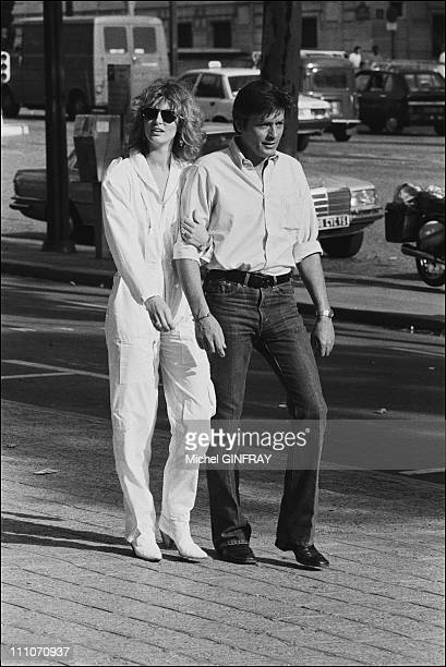 Alain Delon with Dalila Di Lazzaro with Film 'Trois hommes a Abattre' of JDeray in France in 1980