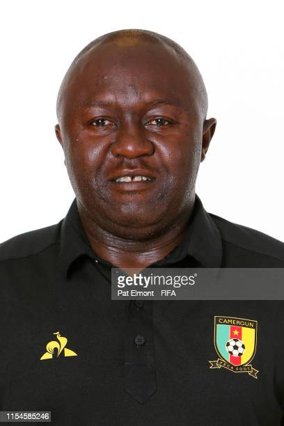 Alain Djeumfa Head Coach of Cameroon poses for a portrait during the official FIFA Women's World Cup 2019 portrait session at Crowne Plaza...