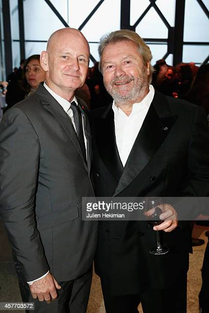 Alain Dominique Perrin and Christophe Girard attend the 'Fondation Cartier Pour L'Art Contemporain' 30th Anniversary at Fondation Cartier on October...