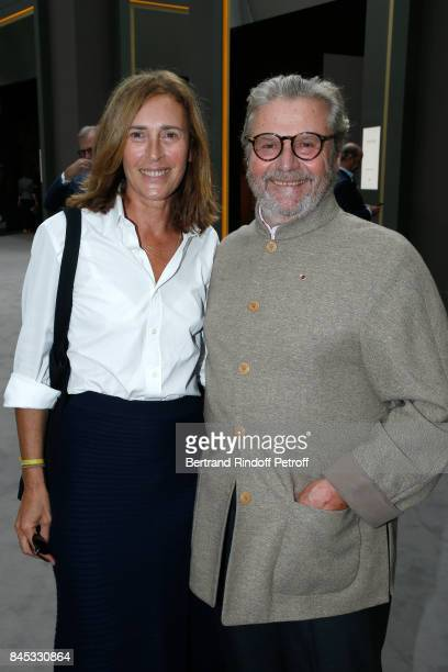 Alain Dominique Perrin and his wife Florence attend the Biennale des Antiquaires 2017 PreOpening at Grand Palais on September 10 2017 in Paris France
