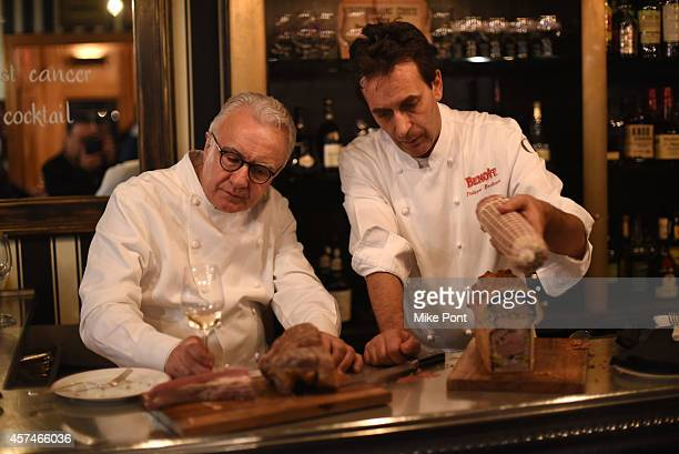 Alain Ducasse and chef attend The Big Apple's French Revival Celebrating Bistro Cuisine at Benoit hosted by Alain Ducasse and Friends during the Food...
