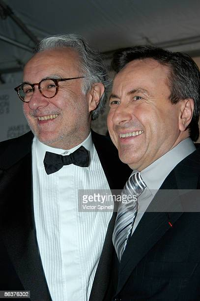 Alain Ducasse and Daniel Boulud attends the 2009 James Beard Foundation Awards Ceremony and Gala at Avery Fisher Hall at Lincoln Center for the...