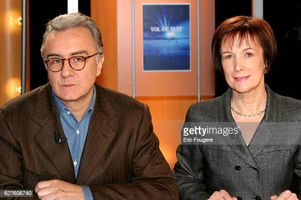 Alain Ducasse and Dominique Loiseau are two of the featured guests appearing on Patrick Poivre d'Arvor's literary magazine program Vol de Nuit