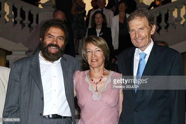 Alain Ducasse and Gwenaelle Gueguen in Paris France on June 26 2006