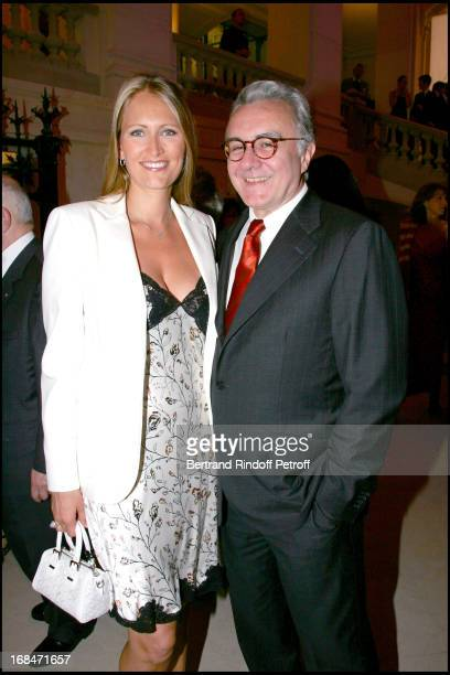 Alain Ducasse and Gwenaelle Gueguen inauguration dinner for the nave Marcel BleusteinBlanchet at the museum of ornamental arts for the occasion of...