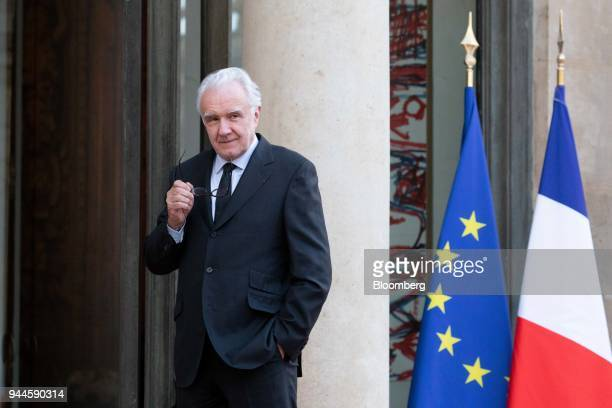 Alain Ducasse chef arrives at the Elysee Palace ahead of a dinner with Mohammed bin Salman Saudi Arabia's crown prince in Paris France on Tuesday...