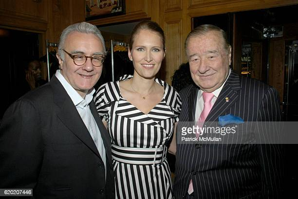 Alain Ducasse Gwenaelle Gueguen and Sirio Maccioni attend Benoit Opening Party Hosted by Pamela Fiori and Alain Ducasse at Benoit Restaurant on April...