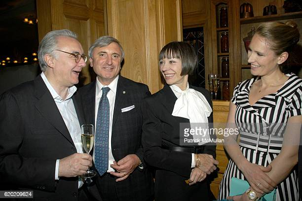 Alain Ducasse Julian Niccolini Maguey LaCoze and Gwenaelle Gueguen attend Benoit Opening Party Hosted by Pamela Fiori and Alain Ducasse at Benoit...
