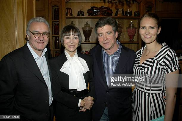 Alain Ducasse Maguey LaCoze Jay McInerney and Gwenaelle Gueguen attend Benoit Opening Party Hosted by Pamela Fiori and Alain Ducasse at Benoit...