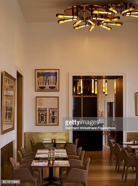 Alain Ducasse's Ore the contemporary restaurantcafe is photographed for Madame Figaro on November 25 2016 in Versailles France Ore is located in the...