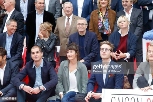 Alain Duhamel Thomas Hugues Sidonie Bonnec Laurent Ruquier Flavie Flament and the Team of RTL attend the RTL RTL2 Fun Radio Press Conference to...