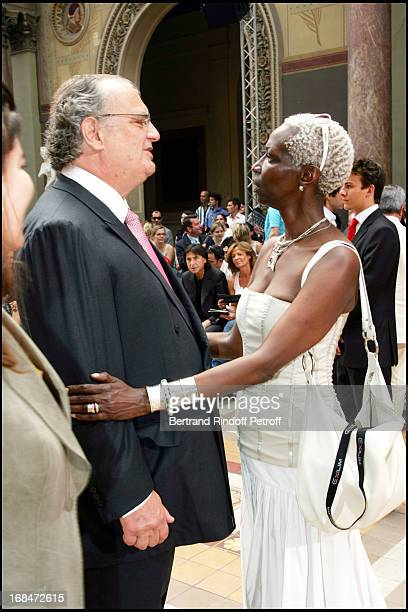 Alain Dumesnil and Princess Esther Kamatari Smalto ready to wear fashion show masculine collections spring summer 2007 in Paris