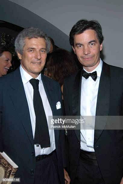Alain Elkann and Angelo Moratti attend FRIENDS OF SAN PATRIGNANO Dinner Celebration at Guggenheim Museum on June 5 2007 in New York City