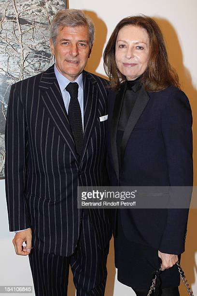 Alain Elkann and Daniella Luxembourg attend the opening of Thaddaeus Ropac's new gallery on October 13 2012 in Pantin France