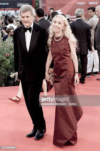 Alain Elkann and Franca Sozzani attend the premiere of movie Baaria during the 66th edition of the Venice film festival
