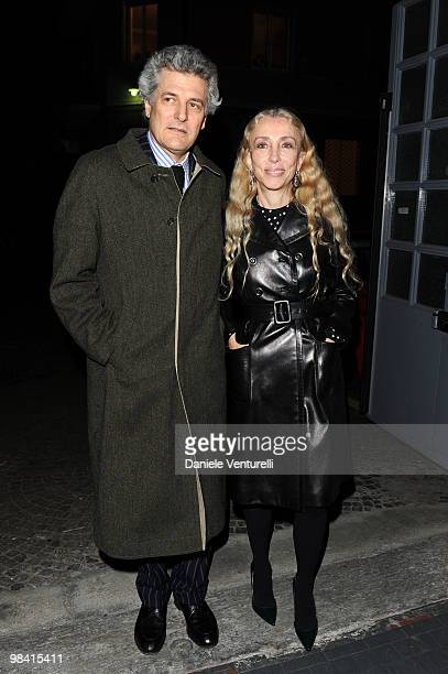 Alain Elkann and Franca Sozzani attends the 'Tar Mag Issue 3' Gala Dinner held at loft Vhernier on April 12 2010 in Milan Italy