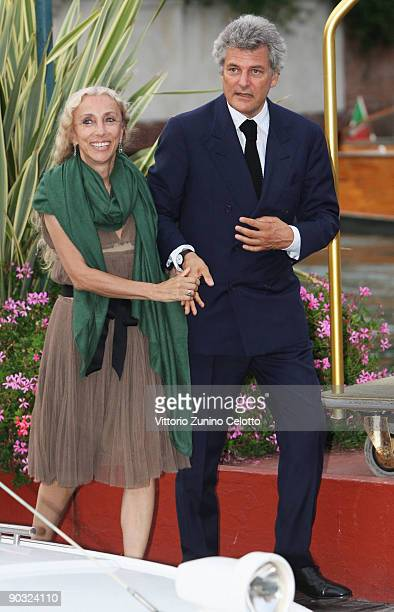 Alain Elkann and Franca Sozzani attends the 'The Road' premiere at the Sala Grande during the 66th Venice Film Festival on September 3 2009 in Venice...