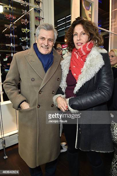 Alain Elkann and Jacqueline Schnabel attend boutique opening at ItaliaIndependent Boutique during MercedesBenz Fashion Week Fall 2015 on February 16...