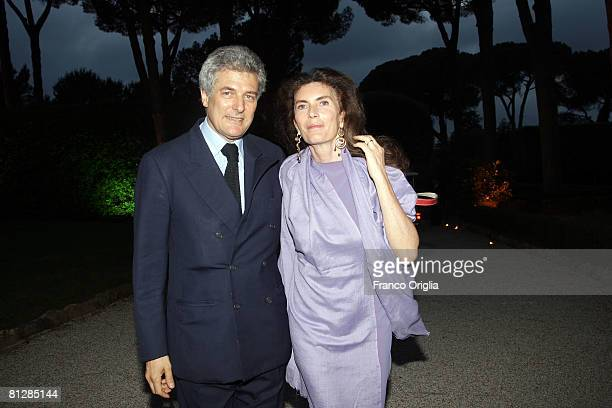Alain Elkann and Rosie Elkann attend the 2008 American Academy McKim Award ceremony at the Villa Aurelia on May 29 2008 in Rome Italy