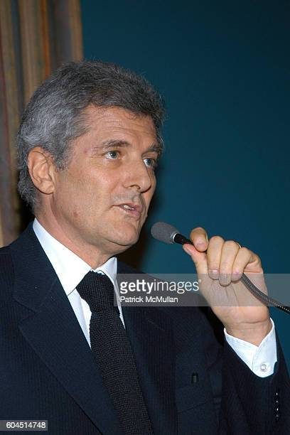 Alain Elkann attends 2006 Foundation For Italian Arts Culture Excellency Awards at The Racquet Tennis Club on November 28 2006 in New York City
