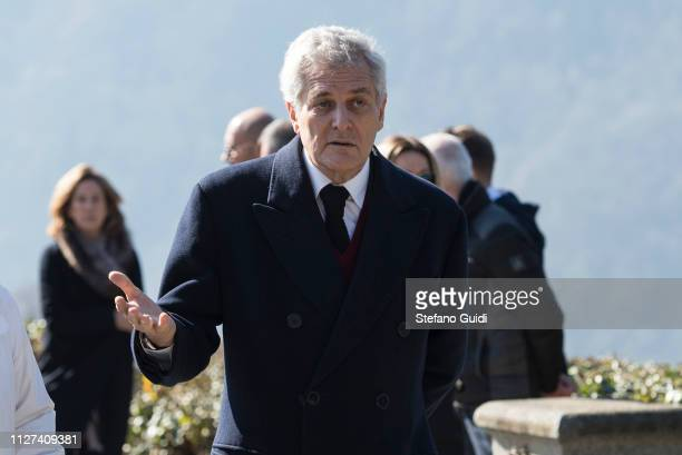 Alain Elkann during the funeral of Marella Agnelli Caracciolo of Castagneto at the Church of San Pietro in Vincoli Marella Agnelli Caracciolo di...