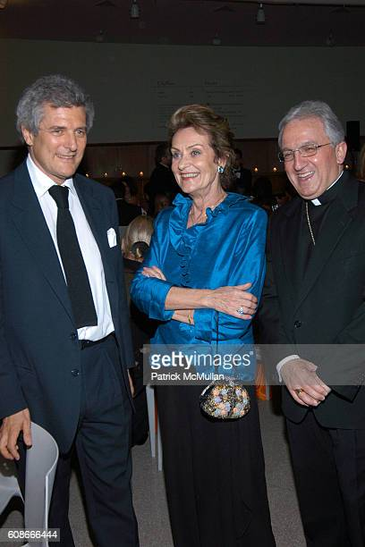 Alain Elkann Laura Spadafora and His Excellency Archbishop Celestino Migliore attend FRIENDS OF SAN PATRIGNANO Dinner Celebration at Guggenheim...