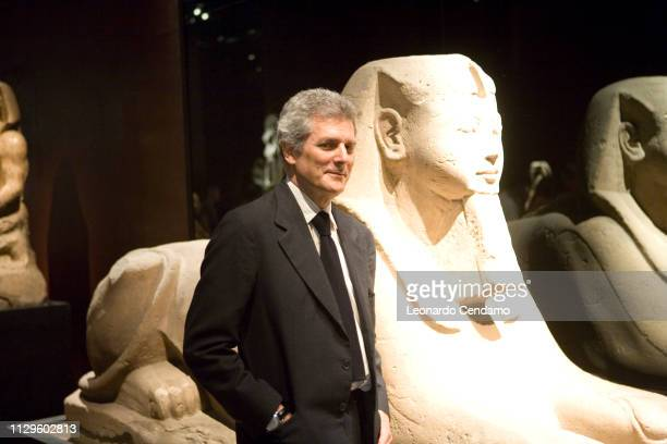 Alain Elkann President of Egyptian Museum of Turin and writer portrait Milan Italy 13th May 2007