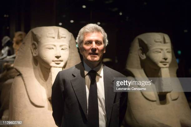 Alain Elkann President of Egyptian Museum of Turin and writer portrait Milano Italy 13th May 2007