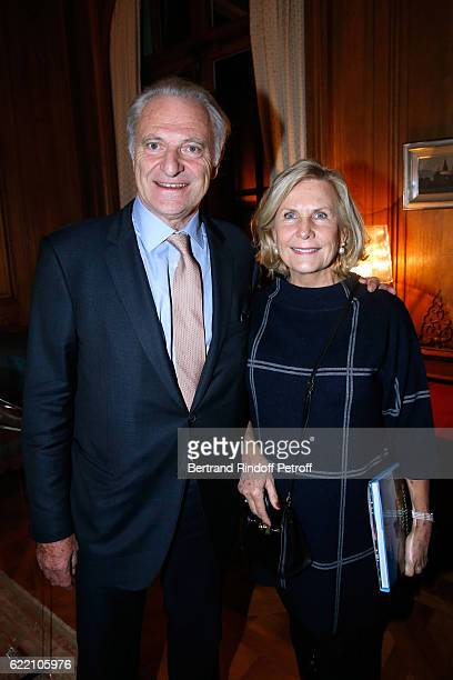 Alain Flammarion and his wife Suzanna attend Stephane Bern signs his Book 'Mon Luxembourg' at Residence of the Ambassador of Luxembourg on November 9...