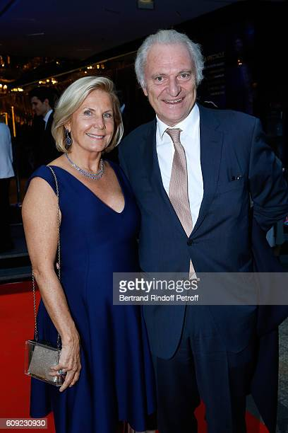 Alain Flammarion and his wife Suzanna attend the 'Cezanne et Moi' movie Premiere to Benefit 'Claude Pompidou Foundation' Held at UGC Normandie in...