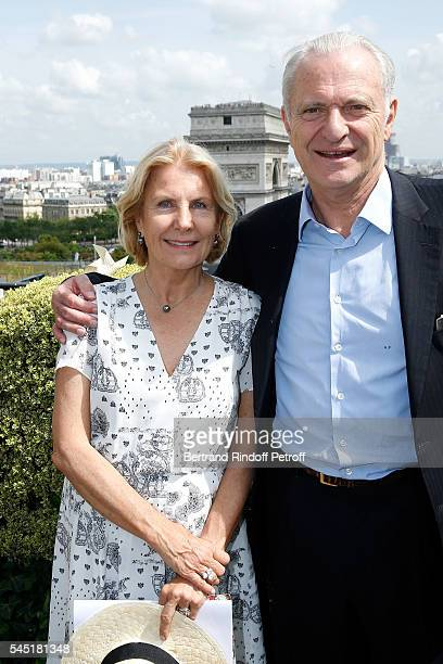 Alain Flammarion and his wife Suzanna attend the Franck Sorbier Haute Couture Fall/Winter 20162017 show as part of Paris Fashion Week on July 6 2016...