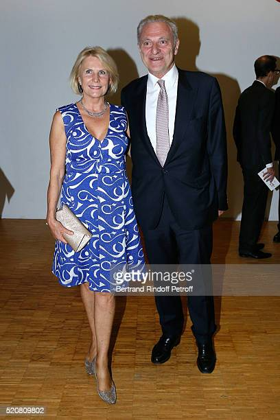 Alain Flammarion and his wife Suzanna attend the Societe des Amis du Musee d'Art Moderne du Centre Pompidou Dinner Party Held at Centre Pompidou on...