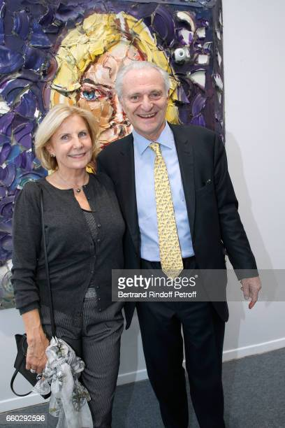 Alain Flammarion and his wife Suzanna Flammarion attend the 'Art Paris Art Fair' Exhibition Opening at Le Grand Palais on March 29 2017 in Paris...
