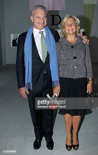 Alain Flammarion and his wife Suzanna Flammarion attend the Christian Dior Spring / Summer 2013 show as part of Paris Fashion Week on September 28...