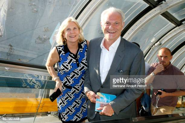 Alain Flammarion and his wife Suzanna Flammarion attend the David Hockney 'Retrospective' Exhibition at Centre Pompidou on June 19 2017 in Paris...