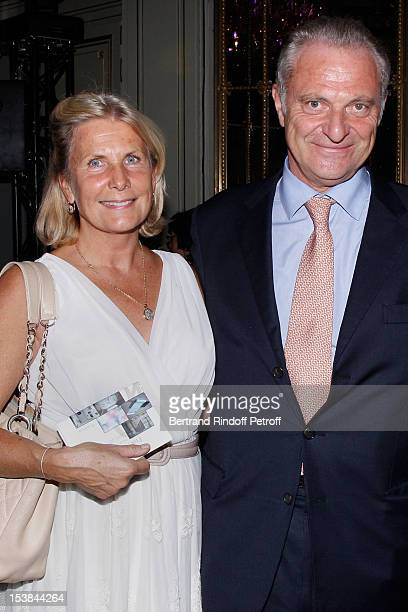 Alain Flammarion and his wife Suzanna Flammarion attend the Meurice Prize for Contemporary Art 2012/2013 at Hotel Meurice on October 9 2012 in Paris...