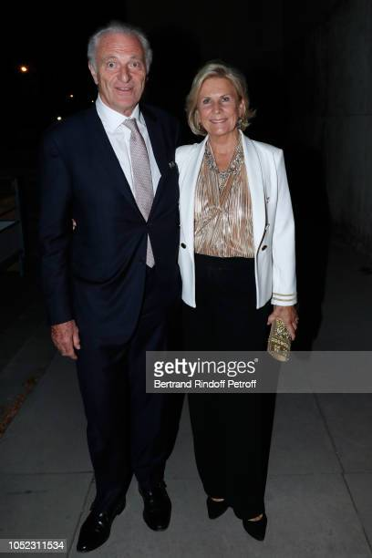 Alain Flammarion and his wife Suzanna Flammarion attend the 'Societe des Amis du Musee d'Art Moderne' Dinner Held at Musee d'Art Moderne de la Ville...