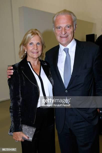 Alain Flammarion and his wife Suzanna Flammarion attend the 'Societe des Amis du Musee d'Art Moderne de la Ville de Paris' Dinner on October 17 2017...