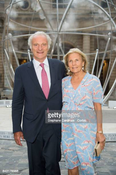 Alain Flammarion and Suzanne Flammarion attend the 'The Droplet by The Harmonist' Launch Party at Hotel de la Monnaie on September 5 2017 in Paris...