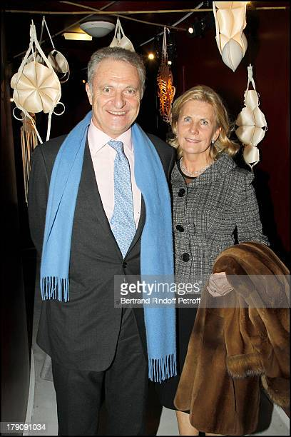 Alain Flammarion and wife Suzanna at The Private View Of The Art Exhibition Ailleurs At The Espace Culturel Louis Vuitton Avenue Des Chapmps Elysees...