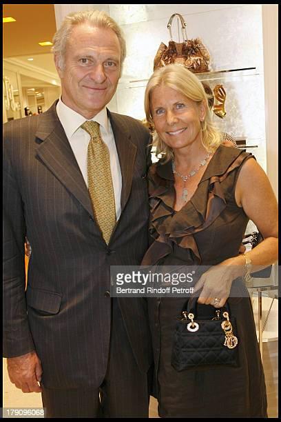 Alain Flammarion and wife Suzanna at Vogue Fashion Celebration Night Avenue Montaigne In Paris