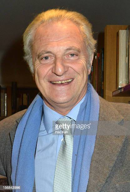 Alain Flammarion attends 'Home' India Madhavi and Soline Delos Book Launch at Musee Arts Decoratifs Bookshop on November 22 2012 in Paris France
