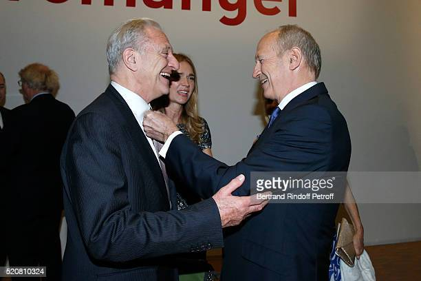 Alain Flammarion Chairman Chief Executive Officer of L'Oreal Chairman of the L'Oreal Foundation JeanPaul Agon and his companion Sophie Agon attend...